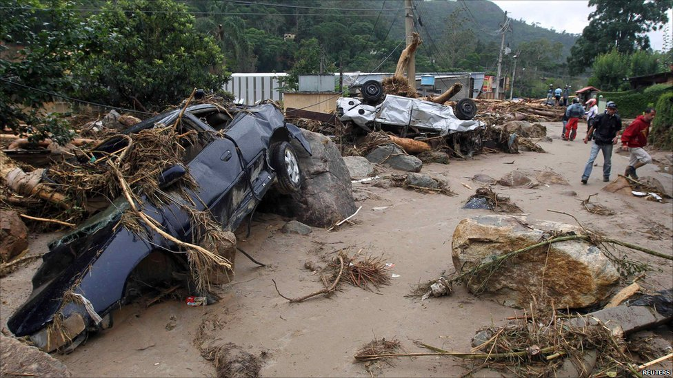 Brazil floods foto BBC